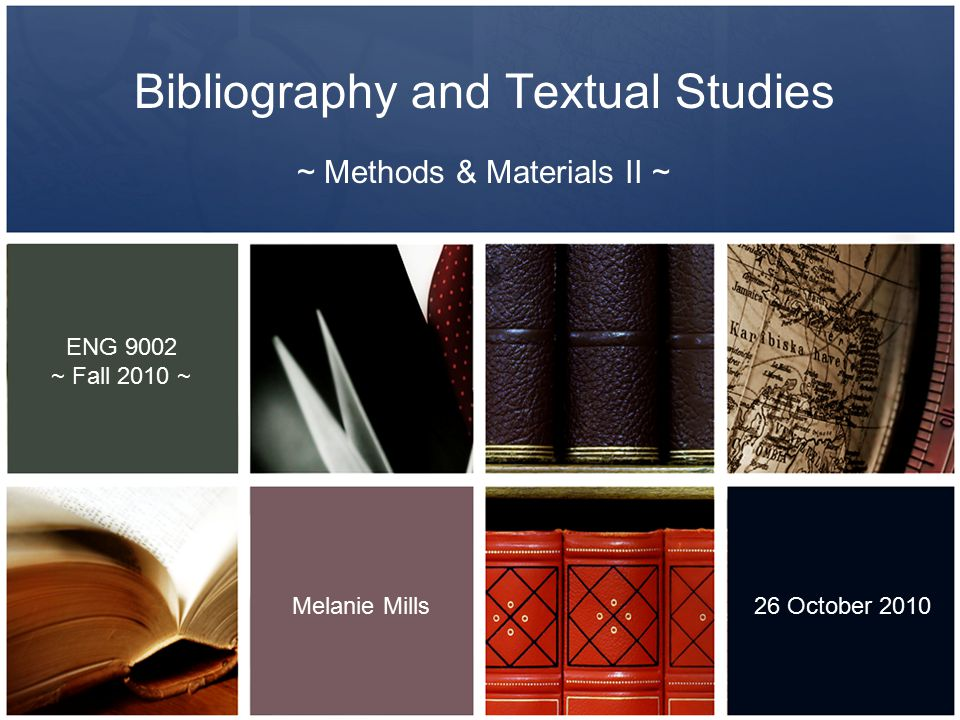 ~ Methods & Materials I Last week… ~ Introduction to Western Libraries and The D.B.