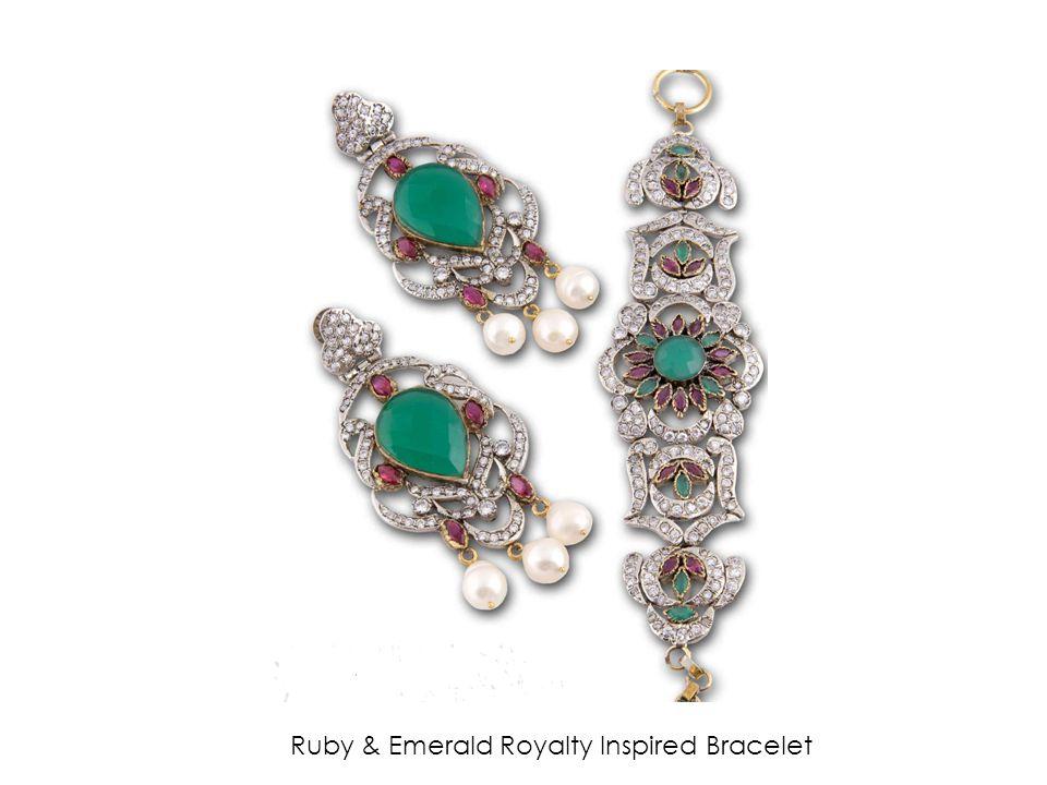 Ruby & Emerald Royalty Inspired Bracelet