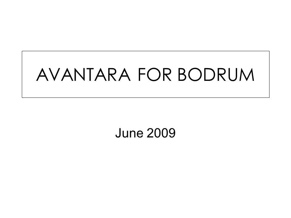 AVANTARA FOR BODRUM June 2009
