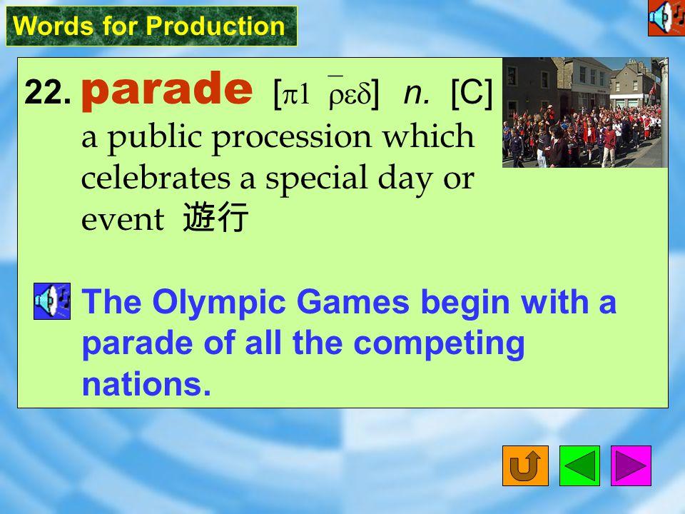 Words for Production 21. sponsor [ `spAns2 ] vt.