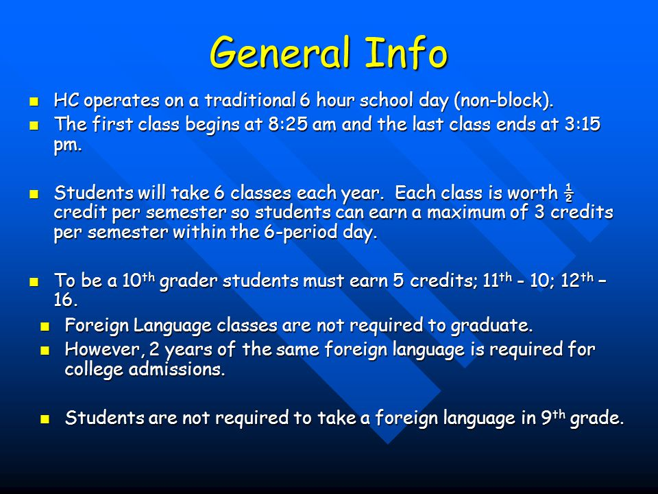 Orientation for New Students Orientation will be held for incoming 9 th graders the first week in August.