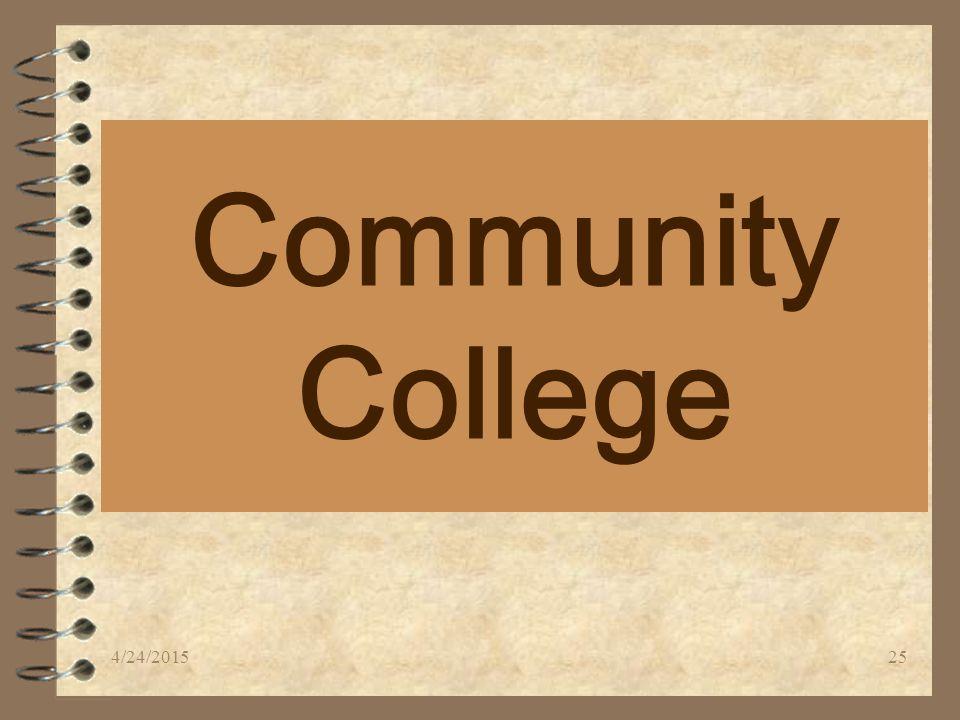Community College 4/24/201525