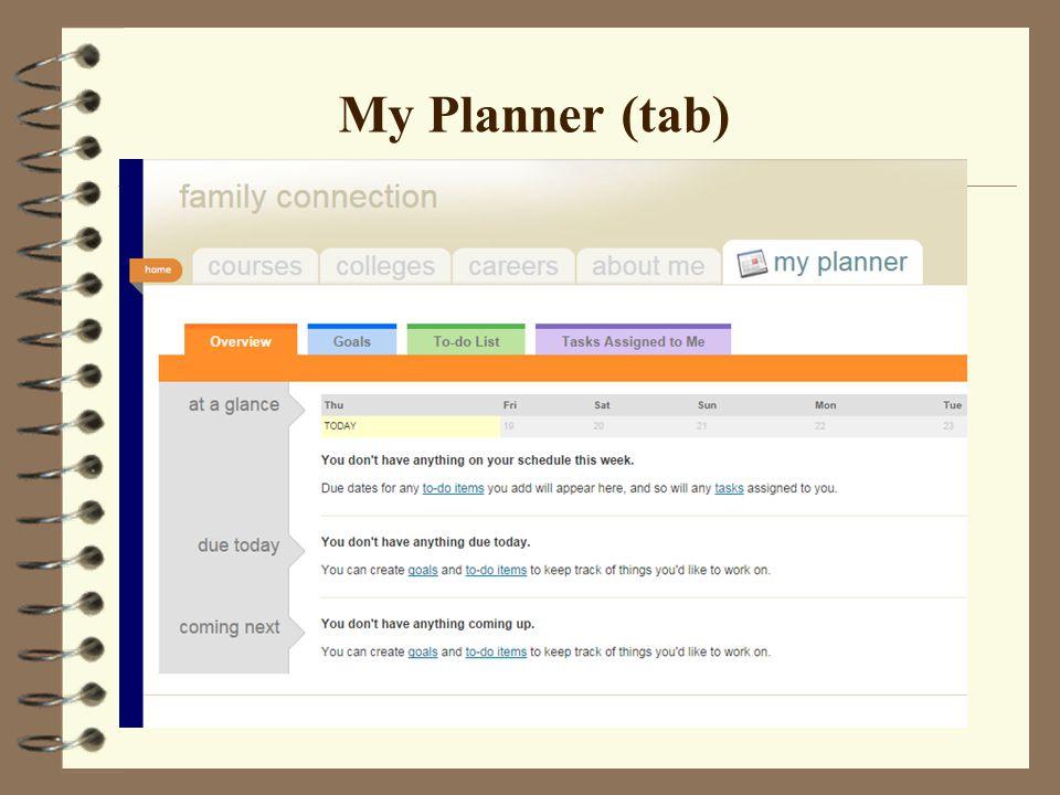 My Planner (tab)