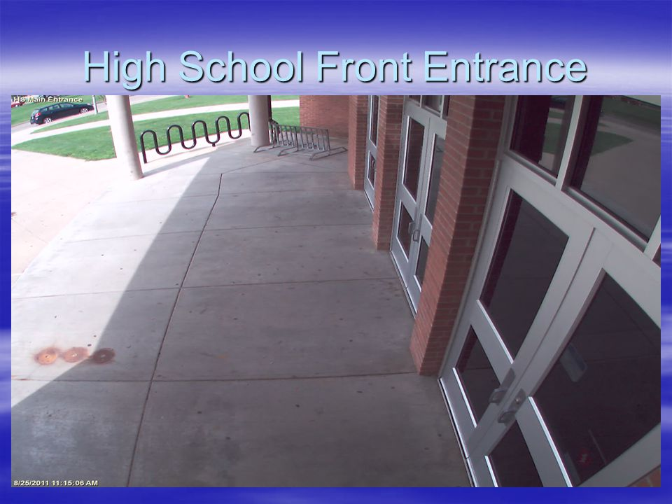 High School Front Entrance