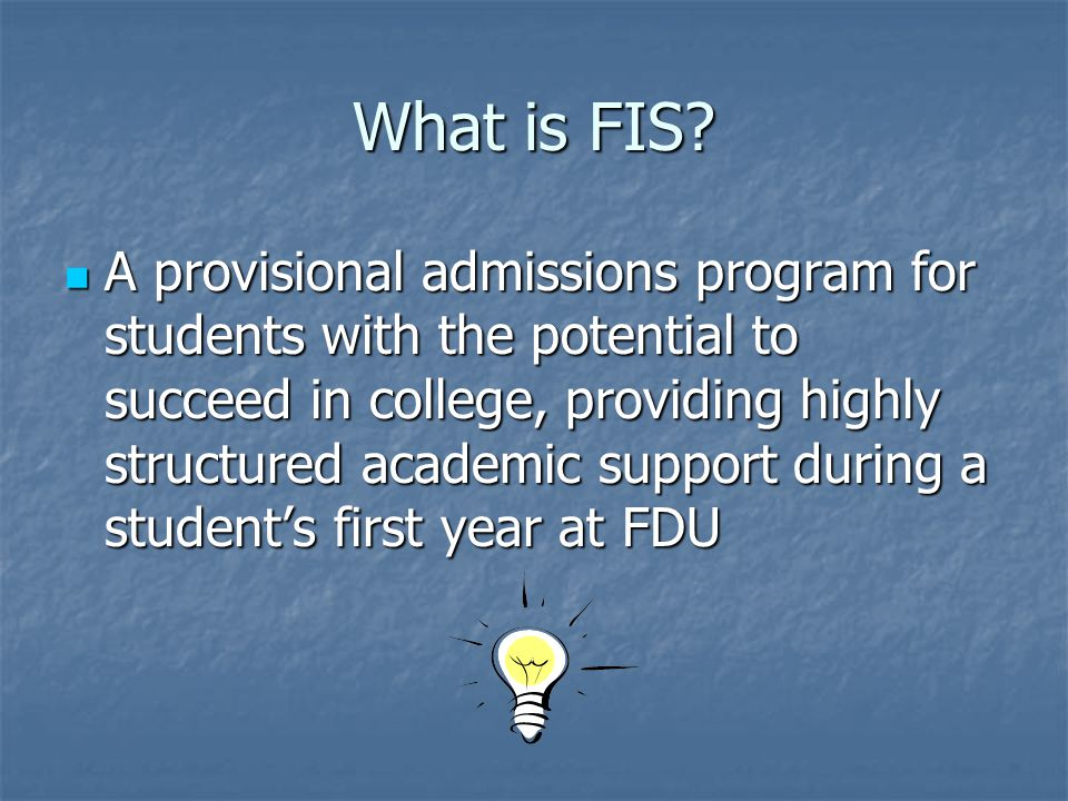 What is FIS.