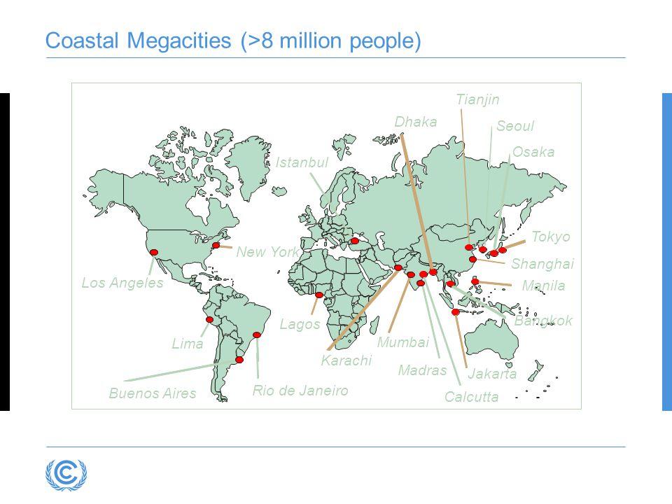 Coastal Megacities (>8 million people)
