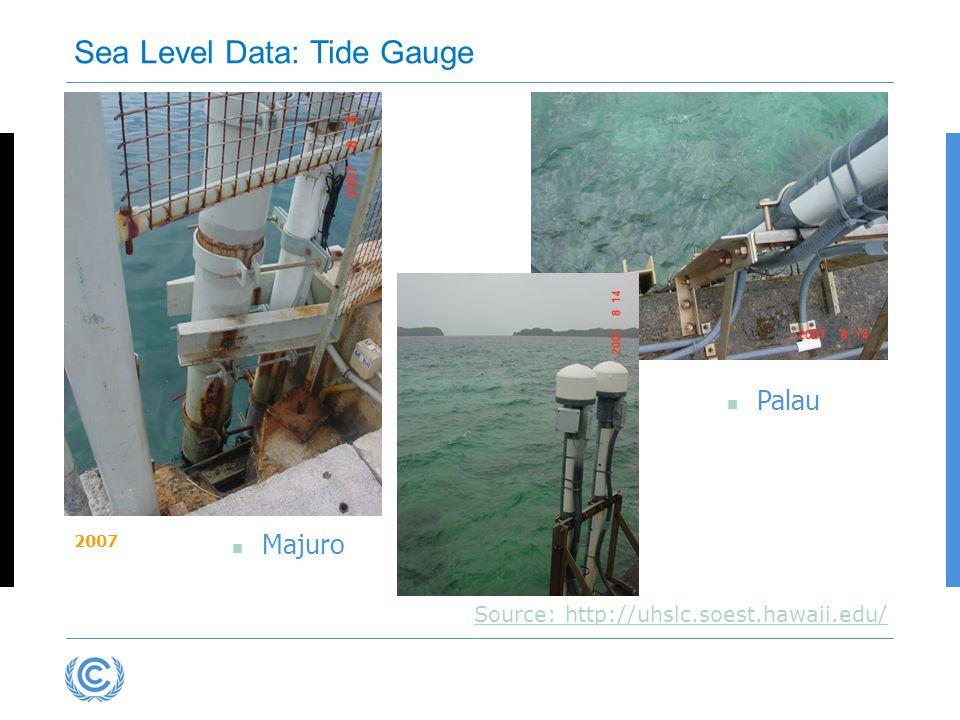 Majuro Palau Source: http://uhslc.soest.hawaii.edu/ Sea Level Data: Tide Gauge 2007