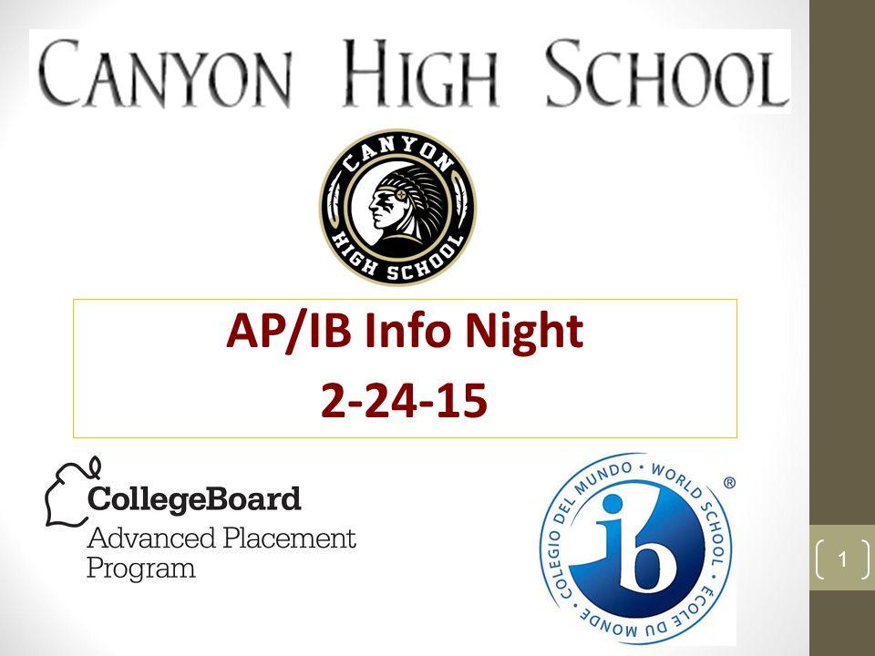 AP/IB Info Night 2-24-15 1