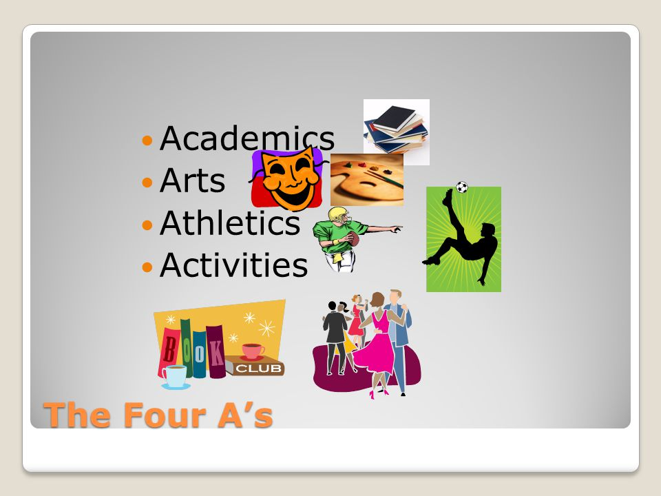 The Four A's Academics Arts Athletics Activities