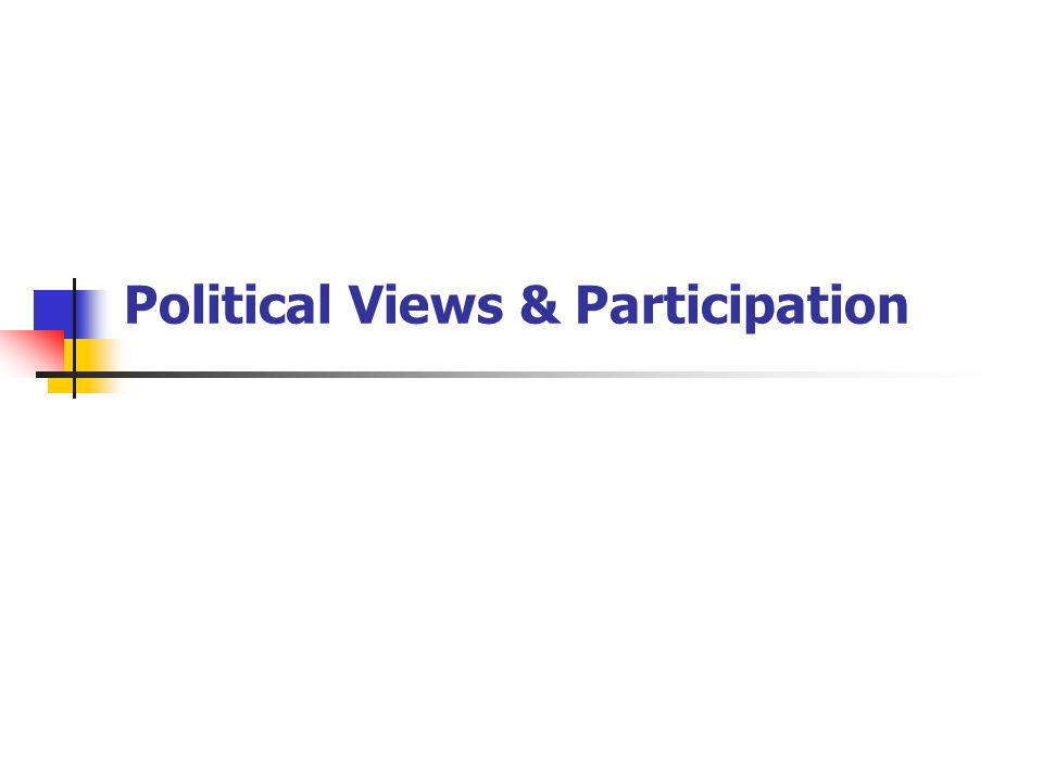 Political Views & Participation