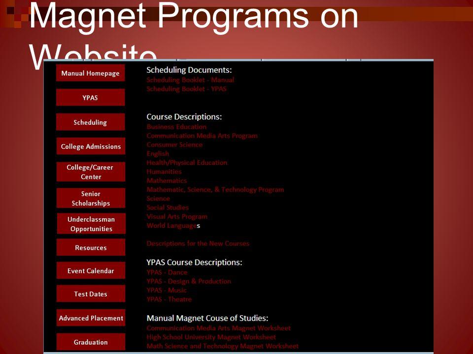 Magnet Programs on Website