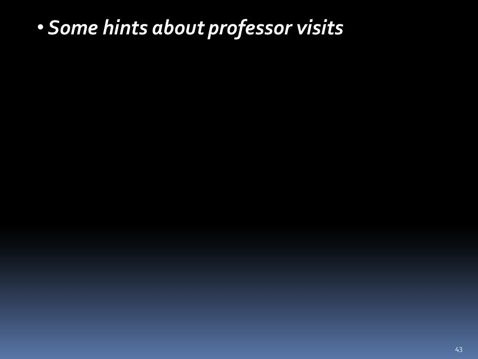 43 Some hints about professor visits