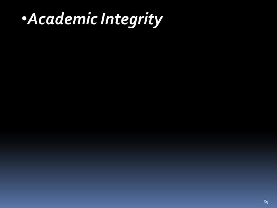 89 Academic Integrity