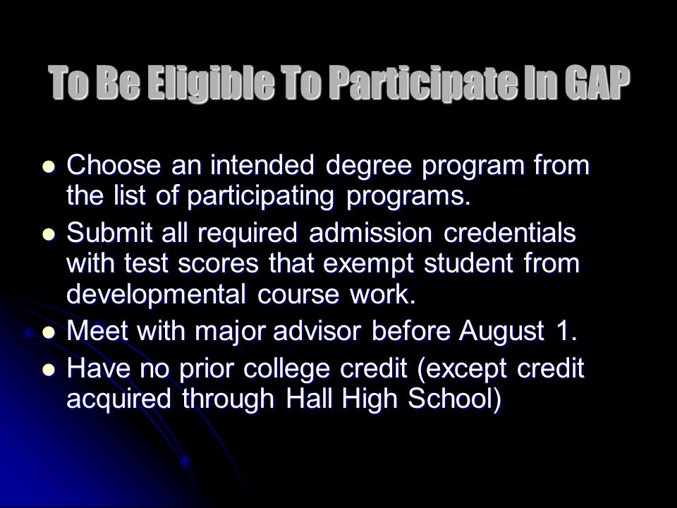 If Student Is INELIGIBLE… Refer the student to University College Academic Advising (501) 569-8688 Or (501) 569-3386 (501) 569-3386 * Insert ineligible comment on SWAADVS in BANNER