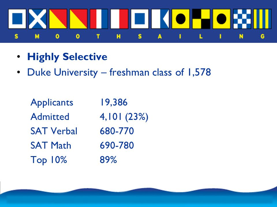 Carleton College – freshman class of 503 Applicants4,457 Admitted1,408 (32%) SAT Verbal650-760 SAT Math660-740 Top 10%78%