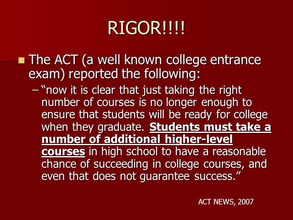 RIGOR!!!.