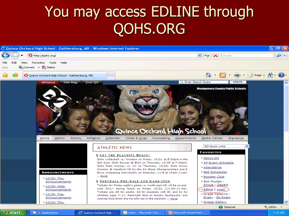 You may access EDLINE through QOHS.ORG