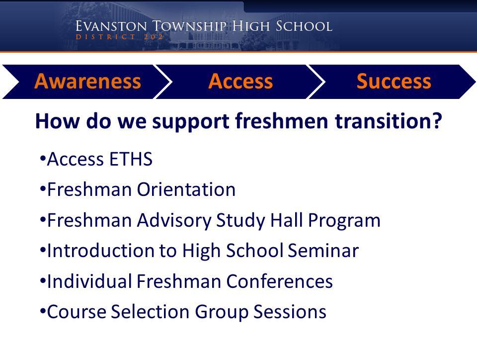 How do we support freshmen transition.