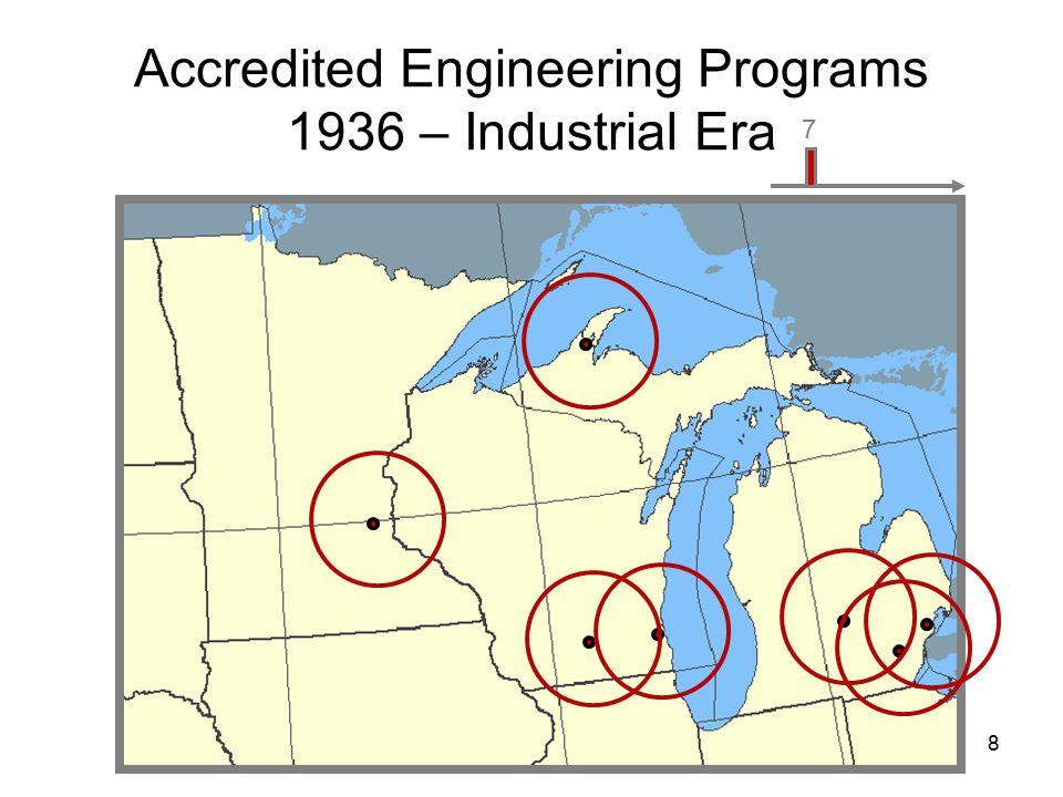 9 8 Accredited Engineering Programs 1956 – Post War Era 7