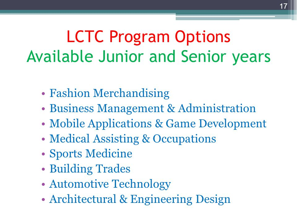 Northville High School Freshman Registration for 2014-2015 school year Livonia Career Technical Center (LCTC) Available to 11 th and 12 th graders If you are interested in one of the Technical fields below, read the course catalog & see your counselor for more information.