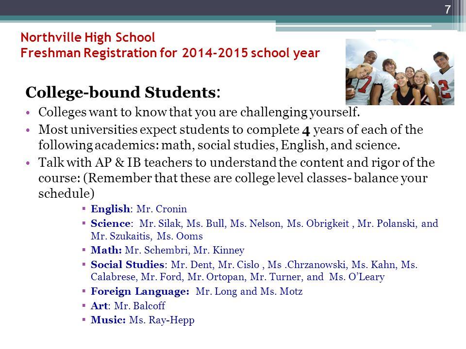 Northville High School Freshman Registration 2014-2015 27