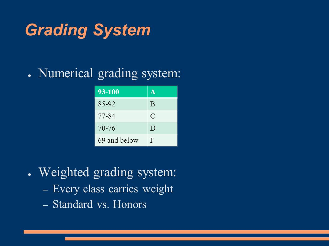 MHS Grading System ● Nine-week grading system – Only semester grades are permanent grades ● Semester grades and Semester Final Exams – Nine-week grade = 40%, 40% – Semester Final Exam grade = 20% ● Must pass 8 semesters of core classes to be eligible for Dr.