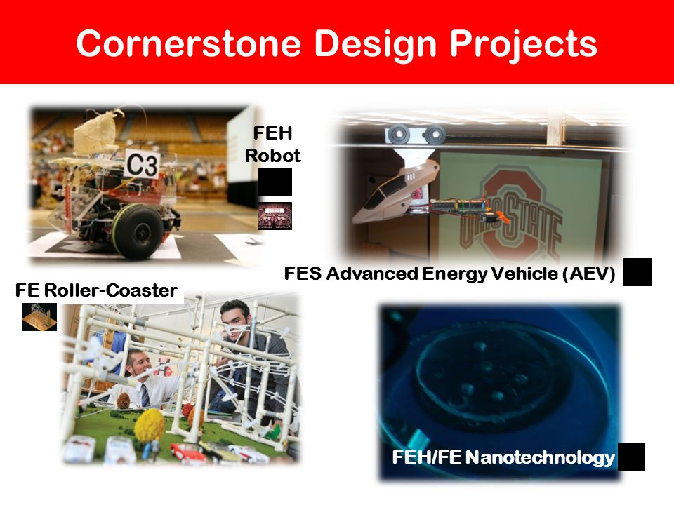 Cornerstone Design Projects FE Roller-Coaster FES Advanced Energy Vehicle (AEV) FEH Robot FEH/FE Nanotechnology