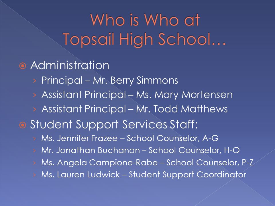  Administration › Principal – Mr. Berry Simmons › Assistant Principal – Ms.