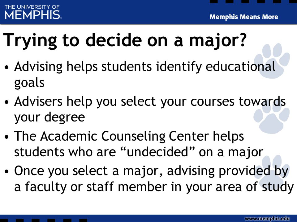 Trying to decide on a major.