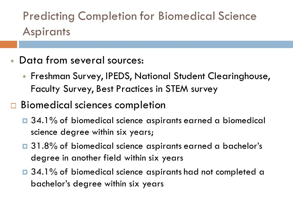 Among Biomedical Science Aspirants Who Completed in Another Field, Where Did They Complete?