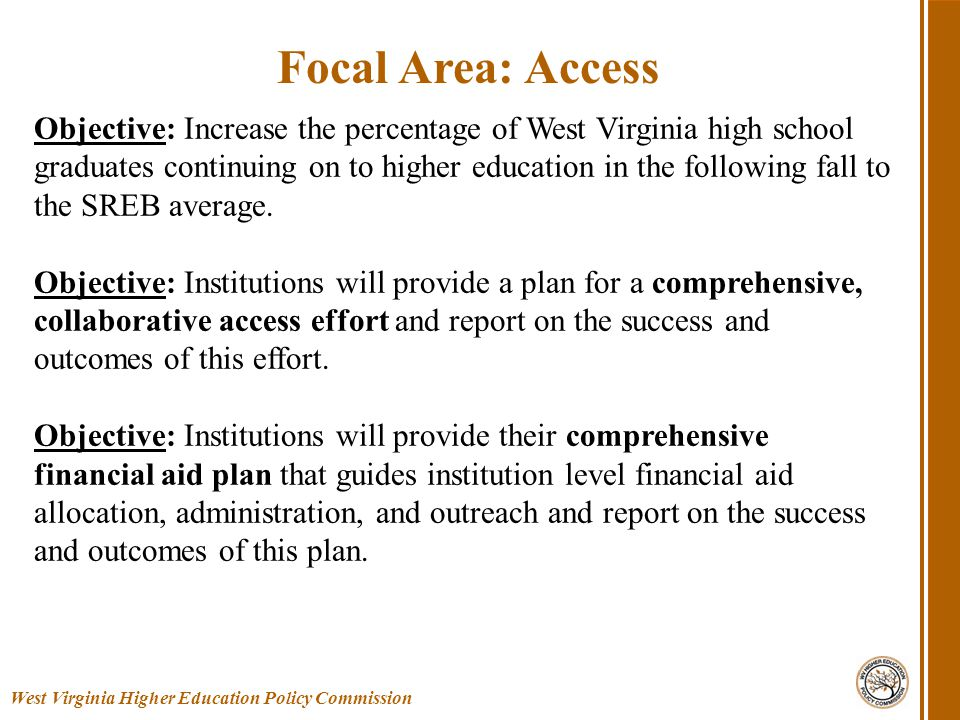 Timely provision of data Support through the planning year with best practices, professional development, opportunities to gather Review by staff of initial targets, plans, and strategies, and yearly updates; recommendations for approval to the Commission Publication of compacts on master planning area of website Recognition for exceptionally good strategies and outcomes On-going efforts to inform, support, and coordinate West Virginia Higher Education Policy Commission Commission Responsibility