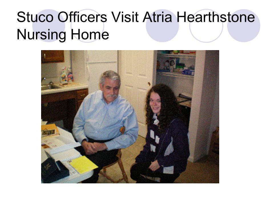 Stuco Officers Visit Atria Hearthstone Nursing Home