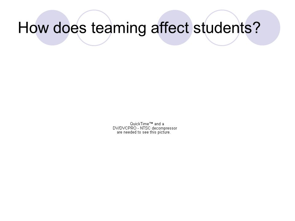How does teaming affect students?