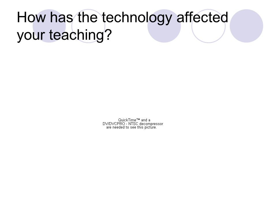 How has the technology affected your teaching?