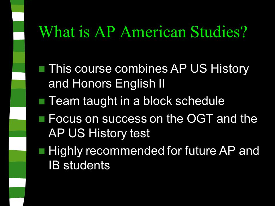 What is AP American Studies.