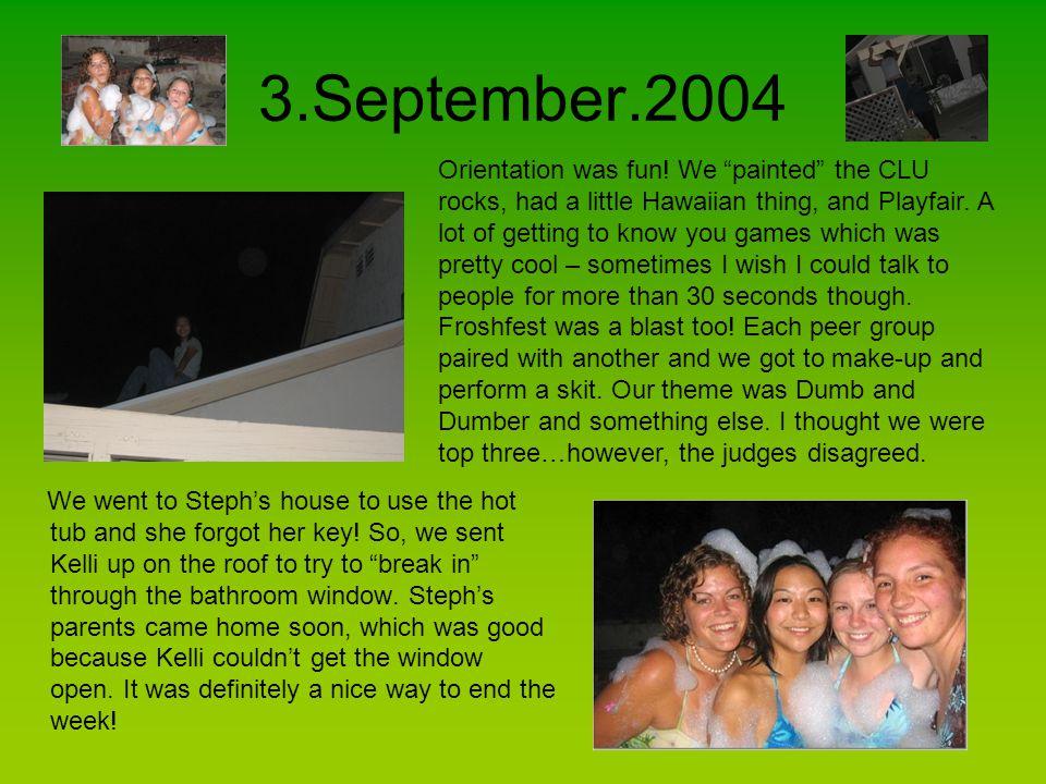 10.September.2004 Watching Kelli's car get towed.