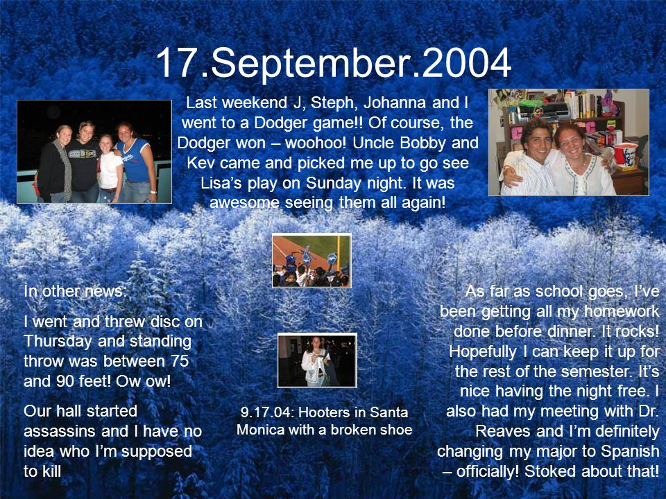 24.September.2004 Crazy things have happened.