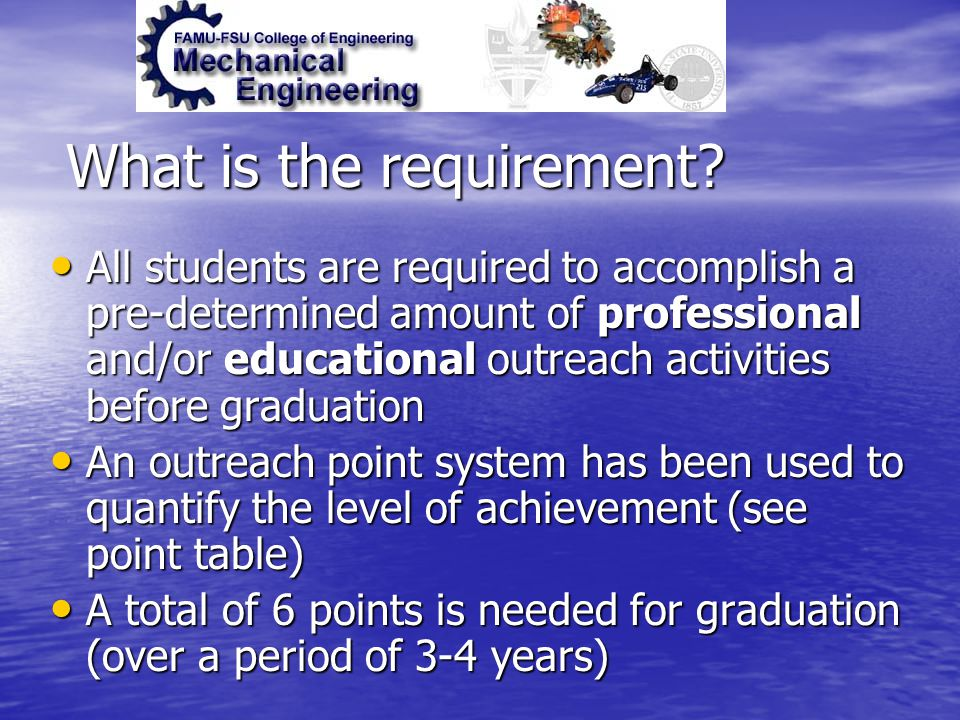What is the requirement.