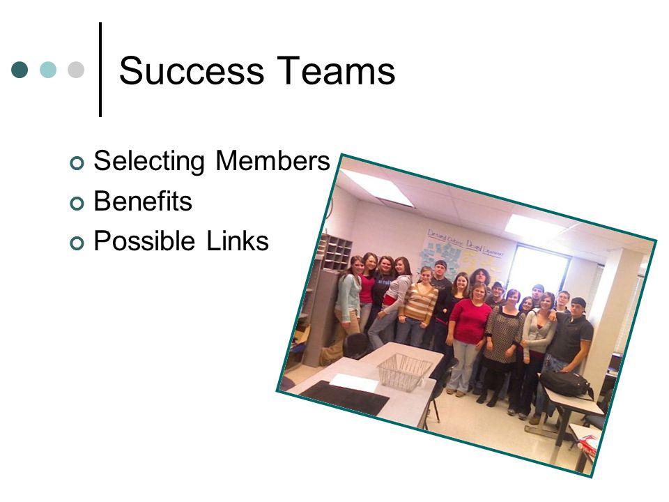 Success Teams Selecting Members Benefits Possible Links
