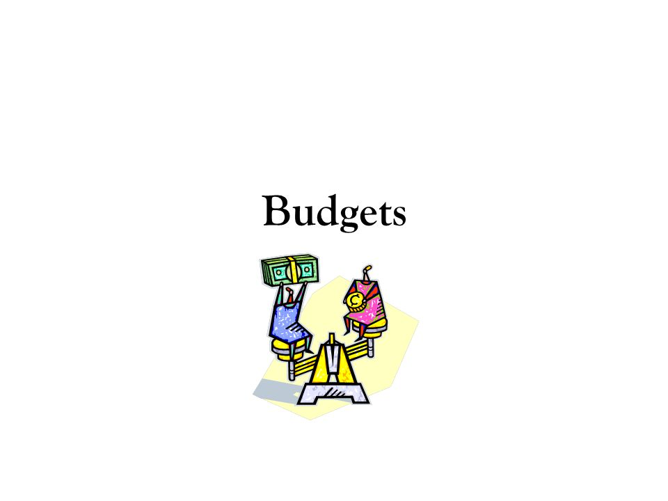 Budgets are a tool that help you determine: –Where your money goes each month –How much you need to save for that big ticket item –Where you want to be in the future