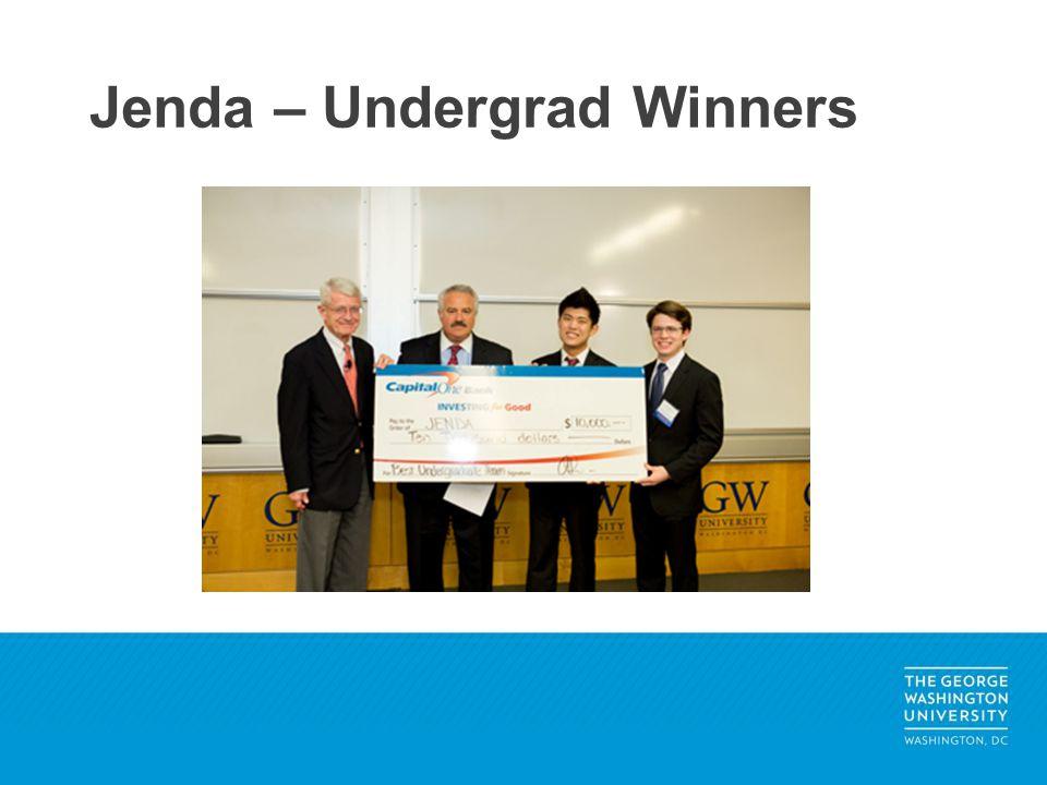 Jenda – Undergrad Winners