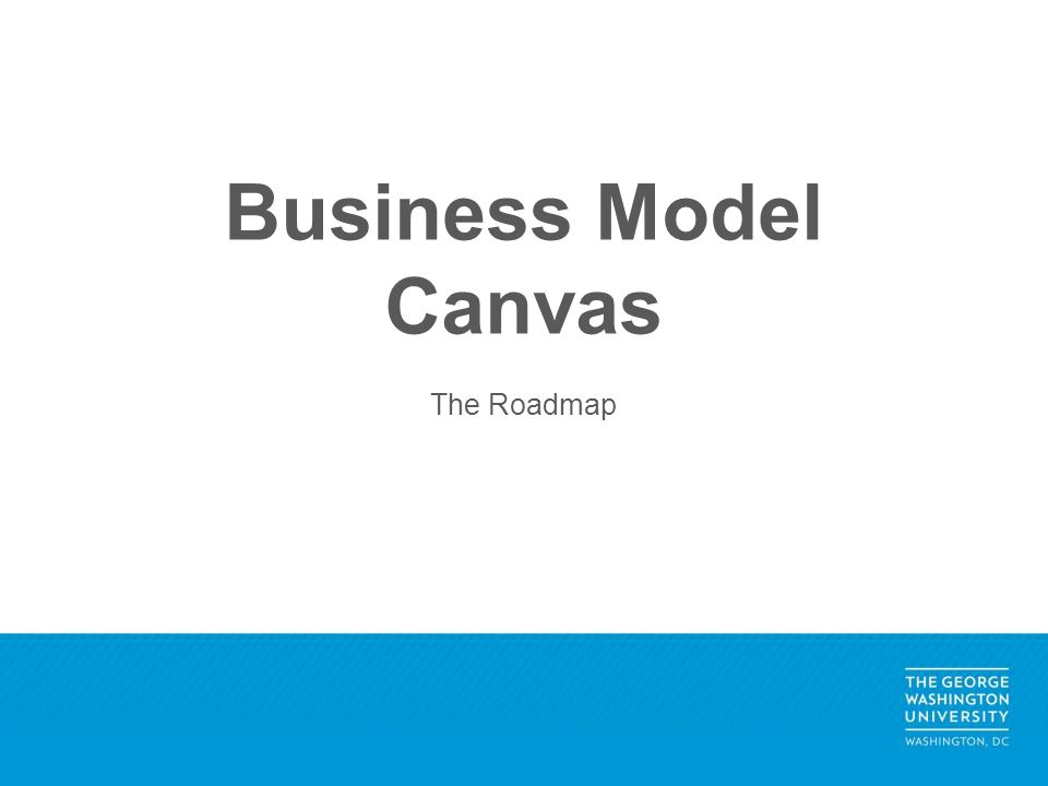 Business Model Canvas The Roadmap