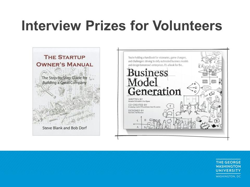 Interview Prizes for Volunteers