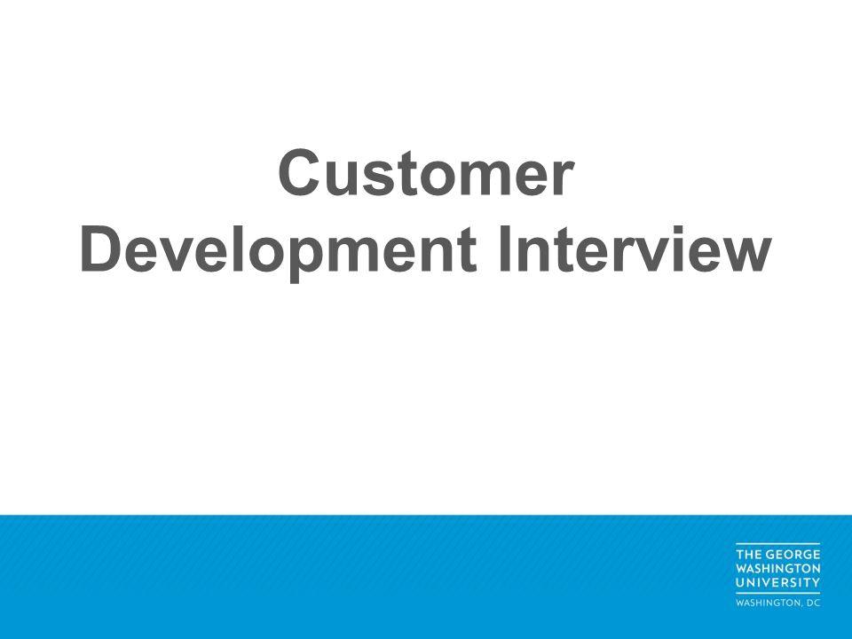 Customer Development Interview