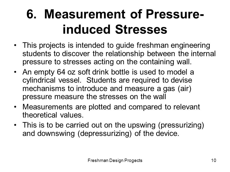 Freshman Design Progects10 6.