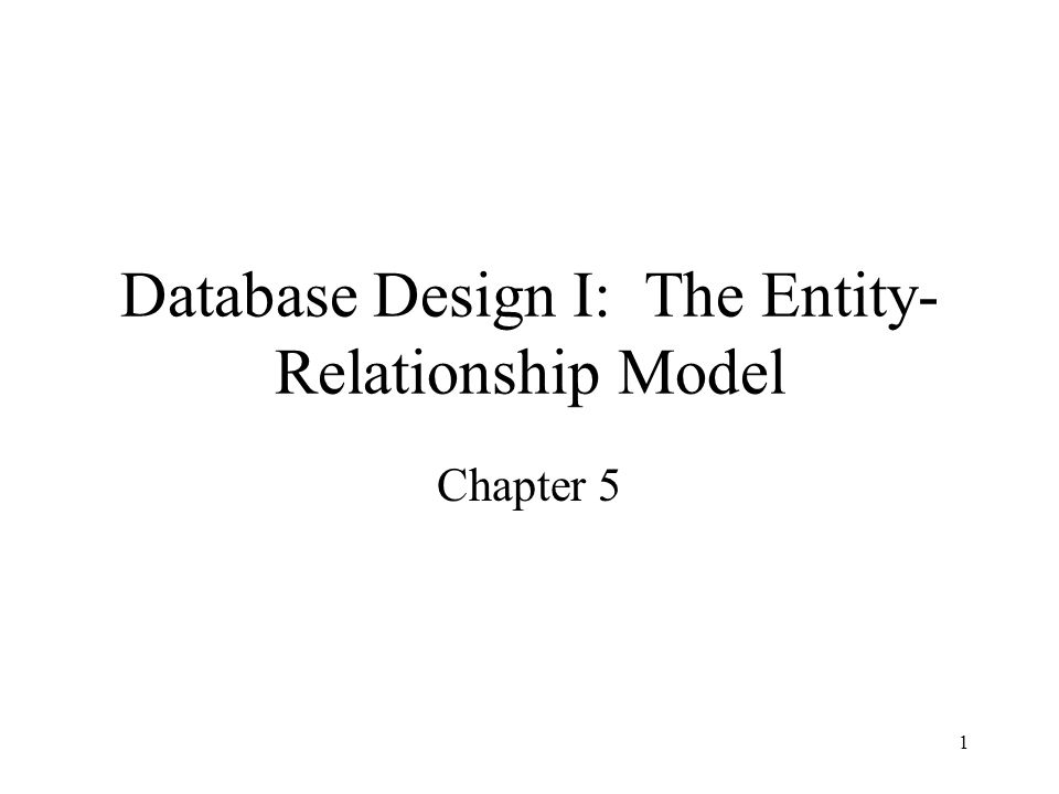 2 Database Design Goal: specification of database schema Methodology: –Use E-R model to get a high-level graphical view of essential components of enterprise and how they are related –Convert E-R diagram to DDL E-R Model: enterprise viewed as set of –Entities –Relationships among entities