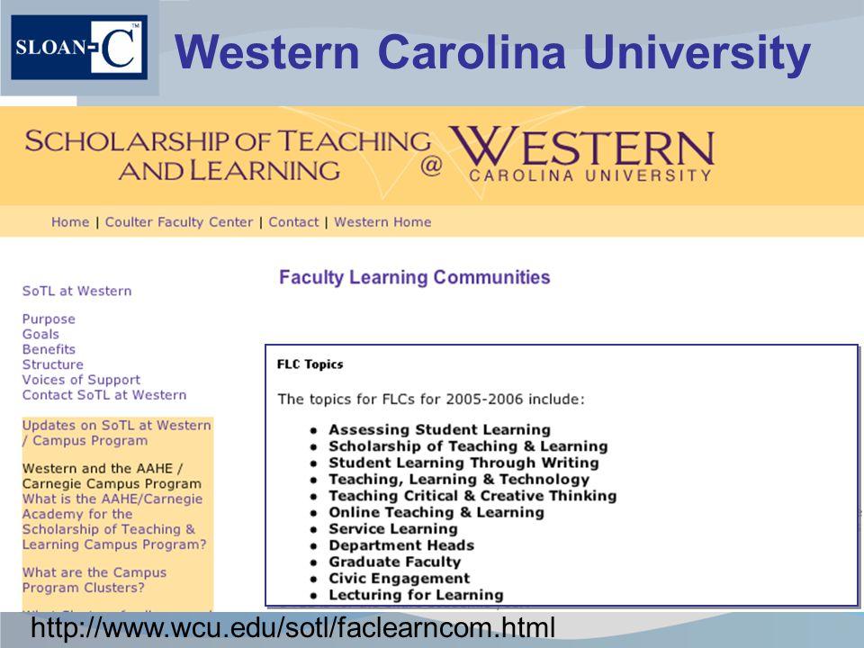 Western Carolina University http://www.wcu.edu/sotl/faclearncom.html