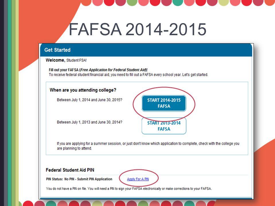 FAFSA 2014-2015