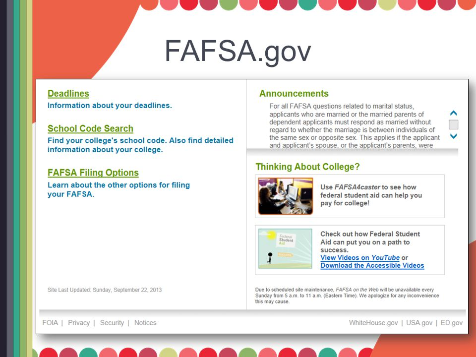 Student Demographics Use your full name as shown on your Social Security card Be accurate when entering your birthdate Enter your marital status as of the day you submit your FAFSA Help and Hints boxes are located on each screen to assist you