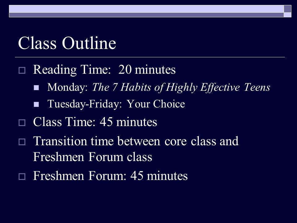 Peer Helpers  Sophomores, Juniors, and Seniors  Coming into Freshmen Forum on Tuesdays, Thursdays, and Fridays